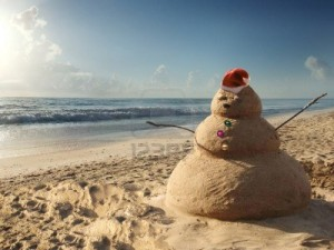 Sandman Christmas Santa at Beach