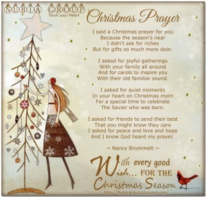 morning Nubia_group – Start your day with a smile *: Christmas Prayer
