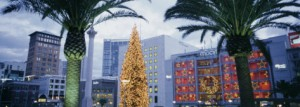 Decorated for Christmas/Winter Holidays, Union Square, San Francisco ..