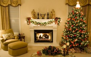 . Interior Design Ideas for Christmas Day: White Room Christmas Interior