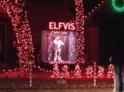 Enjoying Christmas Lights when we see Elfvis??? Some people have too much time on their hands.