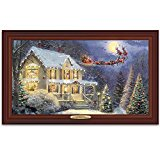Thomas Kinkade The Night Before Christmas Illuminated Canvas Print Wall Decor With Narration by The Bradford Exchange