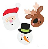 Foam Christmas Friends Magnet Craft Kit (Makes 12)