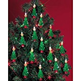 Beadery Holiday Beaded Ornament Kit, 2.25-Inch, Mini Trees, Makes 24 Ornaments