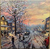 Thomas Kinkade Gallery 14×14 Wrapped Canvas A Christmas Story