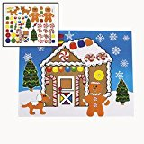 12 Large MAKE a GINGERBREAD HOUSE Sticker Sheets/Christmas CRAFT/ACTIVITY/8.5″ X 11″