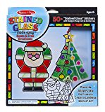 Melissa & Doug Stained Glass Made Easy Craft Kit – Santa and Tree Ornaments