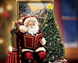 Van Eyck Santa Claus Christmas Tree by Thomas Kinkade Disney Dreams Painting Prints on Canvas Wall Art Picture for Living Room Home Decorations