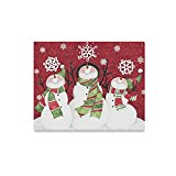 Merry Christmas Cute Snowman Custom Canvas Print Wall art Painting 20″x16″Inch,Modern Home Decor Wall Room Office Oil Paintings