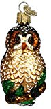 Old World Christmas Spotted Owl Glass Blown Ornament