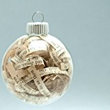 Antique Bible Christmas Ornament – 2.62 Inch Glass Ornament with 1/4 Inch Strips from 1903 Bible