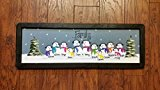 24 inch Personalized Snowman Family Painting, Handpainted, Custom, Grandma Christmas Present, Mom Gift, in distressed frame