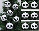 NIGHTMARE BEFORE CHRISTMAS Plush Ornament Set Featuring 6 Jack Skellington Christmas Tree Plush Ornaments –  Average 2.5″ Round