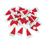 Lot of 24 Mini 1″ Red Santa Hats Christmas Doll Crafts by Fun Express