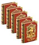 Basilur | Christmas Tea Book Vol.5 | Mini Pyramid Black Tea Bags | 100% Pure Ceylon Tea | Five Collectible Metal Tin Caddies | 5 Luxury Leaf Pyramid Sachets Per Tin (Pack of 5)