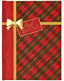 CR Gibson Holiday Tartan Christmas Card List Book